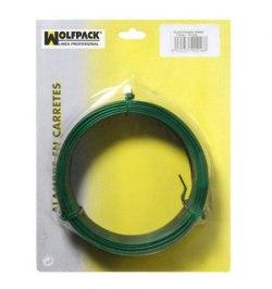 Alambre Plastificado 1,2 mm. Verde (Rollo 50 metros)