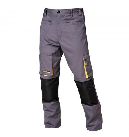 Pantalones de Trabajo Largos Gris/Amarillo Talla38/40 S