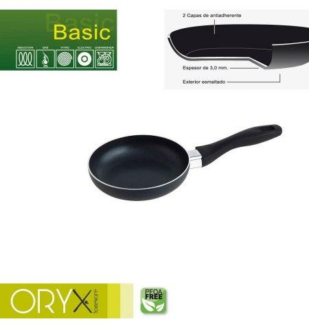 Oryx Sartén Aluminio Antiadherente Basic, Alta Resistencia, Apta Inducción, Libre PFOA, Diámetro 16 cm, Espesor 3 mm.