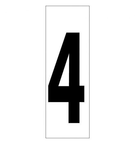 Numero Adhesivo 46x140 mm.   Nº 4