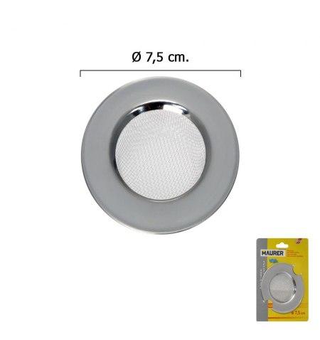 Filtro Cestillo Malla para Lavabo / Fregadero Inoxidable 7,5 cm.