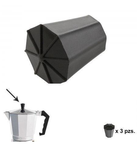 Pomo Cafetera Aluminio Classic 2 / 3 / 6 / 9 y 12 tazas (3 piezas)