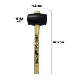 Maza Goma Negra Plus   500 gramos
