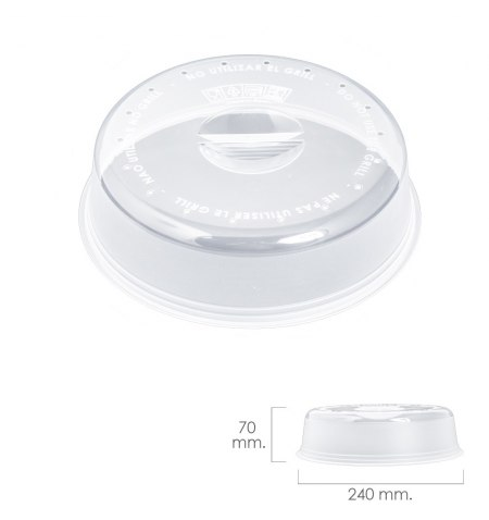 Tapa Microondas Ø 24 x 7 cm.