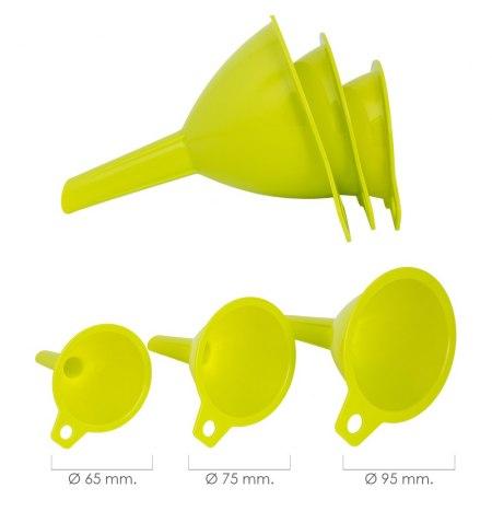 Embudos Plástico Cocina Ø 65 / 75 / 95 mm. (Set 3 Embudos)