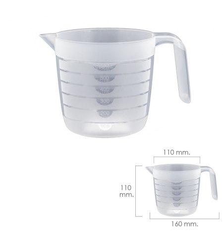 Jarra Medidora Plastico Apta Microondas 600 ml.