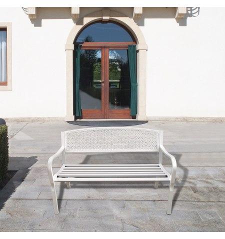 Banco Jardin Papillon Dothan Blanco 128x56x85 (Alt.) cm.