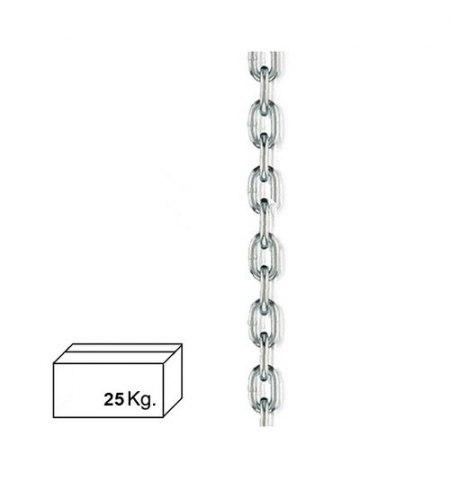 Cadena Zincada  5 mm. (Caja 25 kg.)