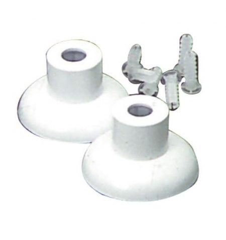 Juego Soportes Baño Plastico Blanco 16 mm.