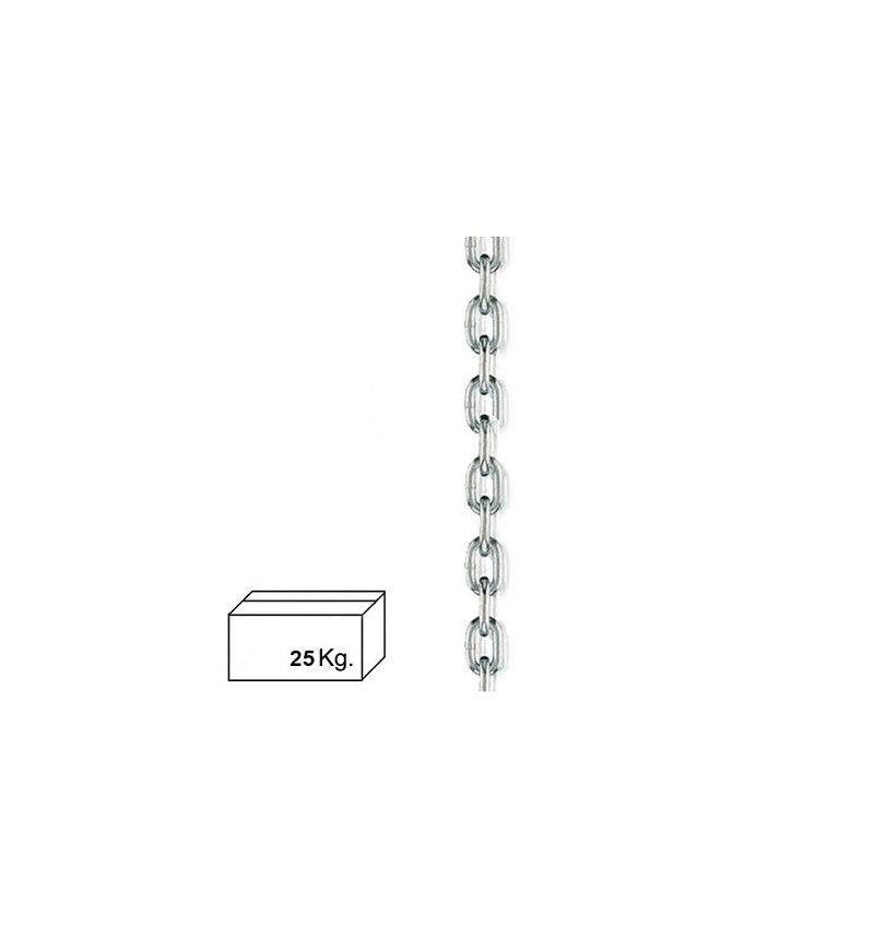 Cadena Zincada  8 mm. (Caja 25 kg.)
