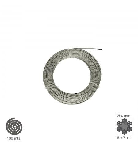 Cable Galvanizado   4  mm. (Rollo 100 Metros) No Elevacion