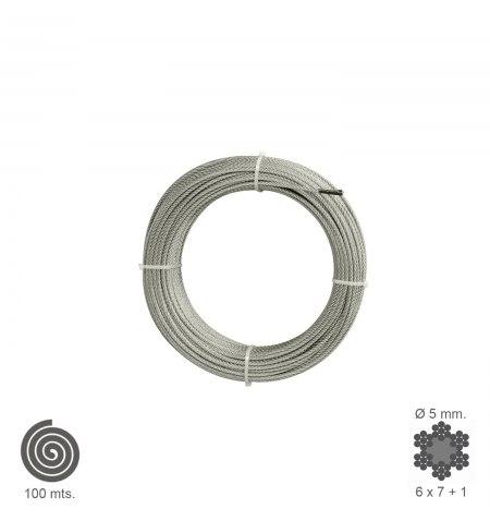 Cable Galvanizado   5 mm. (Rollo 100 Metros) No Elevacion