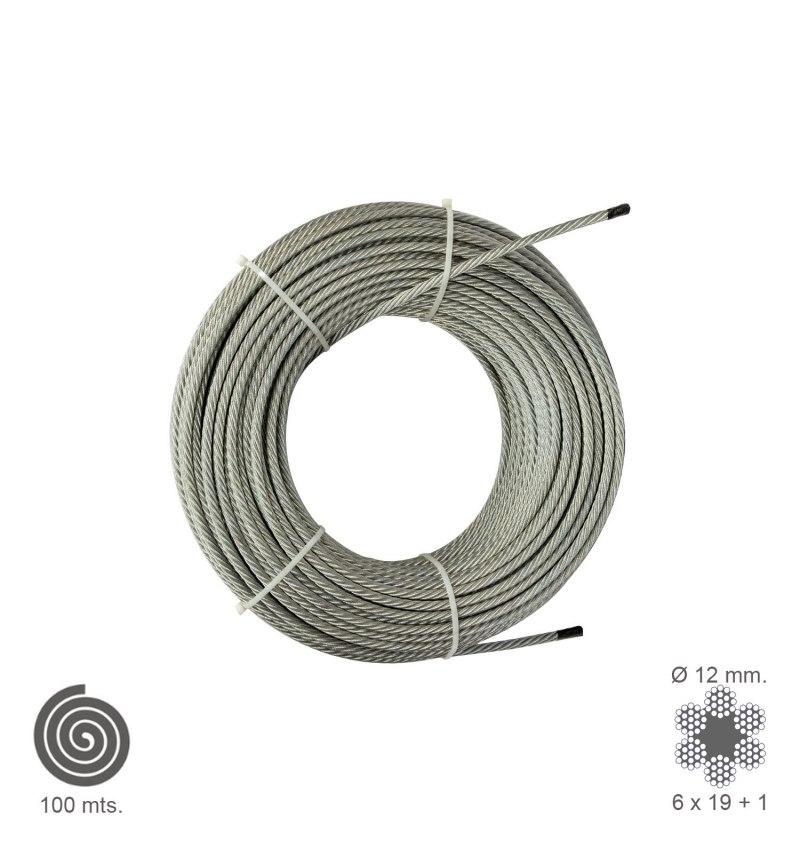 Cable Galvanizado  12 mm. (Rollo 100 Metros) No Elevacion