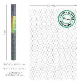 Enrejado Triple Torsion 13/ 100 cm. Rollo 50 Metros Uso Domestico