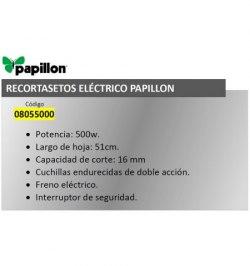 Recortasetos Papillon 500 w. Hoja 510 mm.