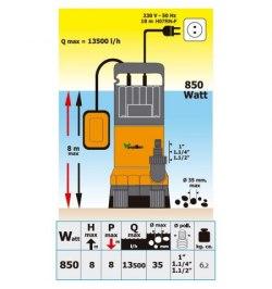 Bomba Agua Sumergible 850w. Aguas Sucias