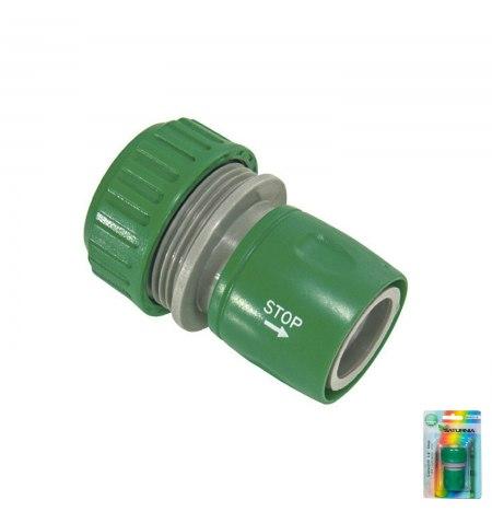 Conector Manguera Plastico 3/4 Con Stop  Blister