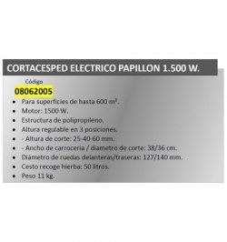 Cortacesped Electrico Papillon 1500 W.