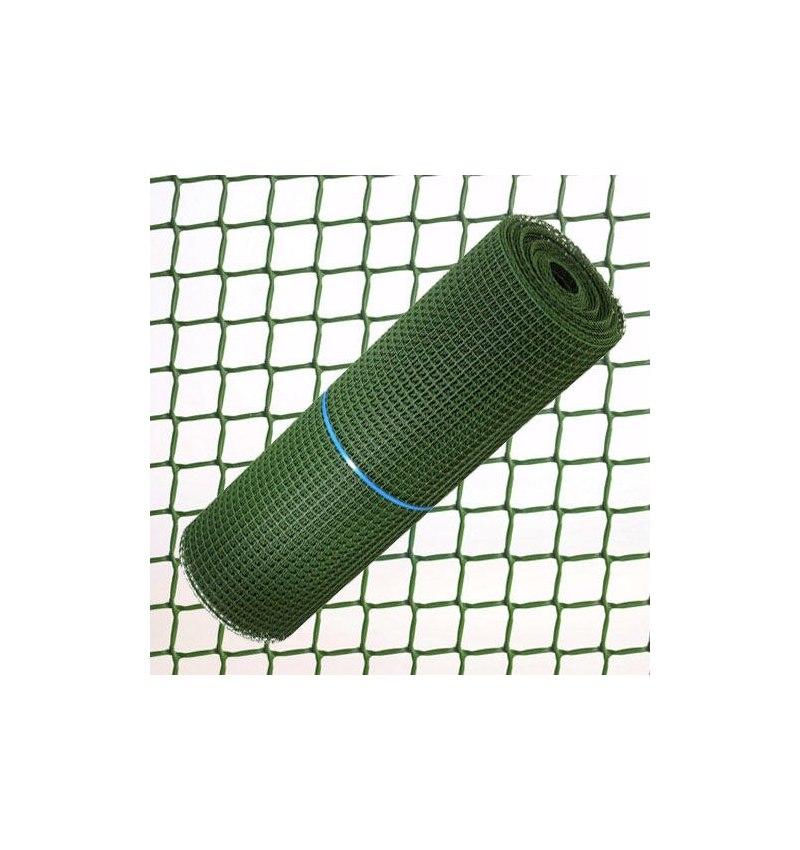 Tela Cuadrada Plastico 2,0 cm. x 1 Metro Verde  Rollo 25 Metros