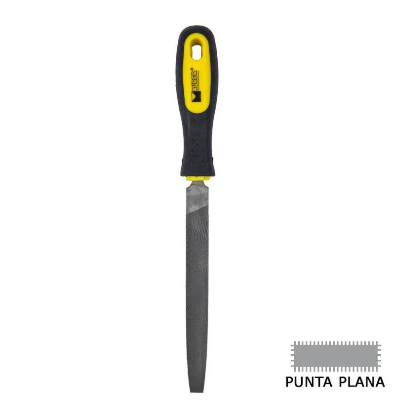 "Lima Maurer Con Mango Plana Punta Entrefina 8"""