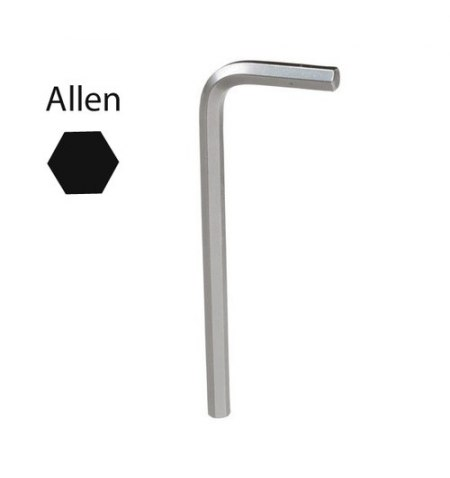Llave Allen Maurer Cromo Vanadio Profesional  5,0mm