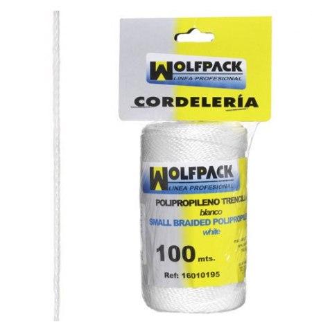 Cuerda Trencilla Polipropileno Blanco (Bobina 100 Metros)