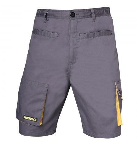 Pantalones de Trabajo Cortos Gris/Amarillo Talla 50/52 XL
