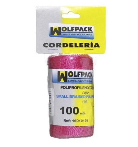 Cuerda Trencilla Polipropileno Roja (Bobina 100 Metros)
