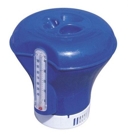 Dispensador Cloro Flotante Ajustable Con Termómetro (Ø 18,5 cm.)