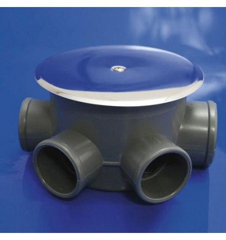 Bote Sifónico PVC T-85-C 110  50-40 Altura 69 mm.