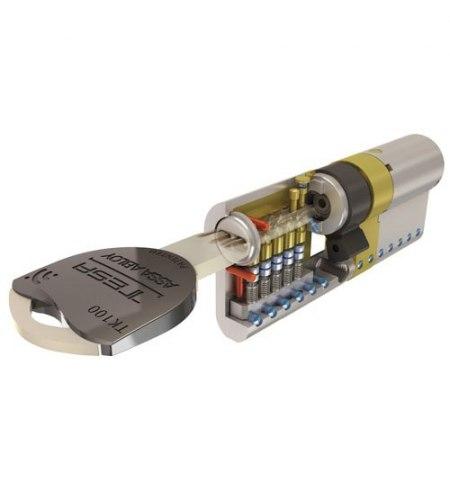 Cilindro Tesa Seguridad Tk1 30x30 Latonado
