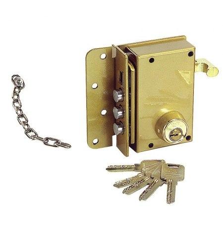 Cerradura Ucem Seguridad 4500-s/he/ Derecha