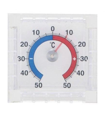 Termometro Jardin Exterior Transparente Para Ventana 7 cm.