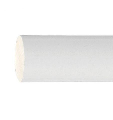 Barra Madera Lisa 1,8 Metros x 20 mm. blanco